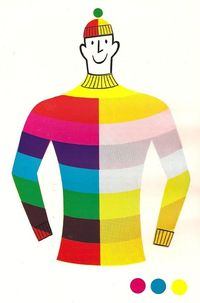 by tom eckersley, 50's/60's (to illustrate lithographic colour printing)