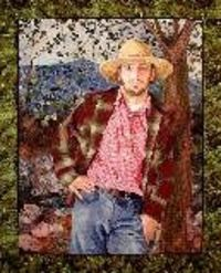 "By Marilyn Belford - *Rundy*. I saw this one at the Pacific International Quilt Show in Santa Clara, Ca. All these ladies were standing around saying, ""WOW, wonder if HE is here?"" ""Wonder if he's married""... ha ha ha"