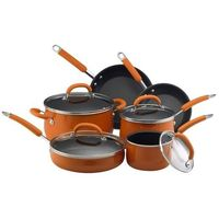 I pinned this 10 Piece Rachael Ray Porcelain Enamel Cookware Set from the Pumpkin Patch event at Joss and Main!