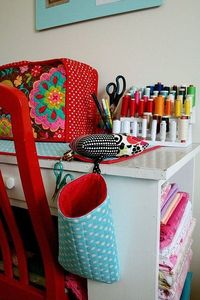 Pin cushion strings bag