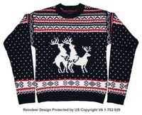 Haha Reindeer Threesome Sweater (ft. Rudolph) #funny