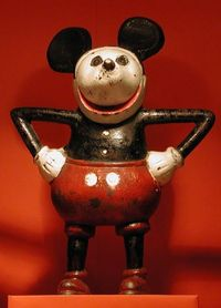 Not a Wishy Washy Mickey Mouse (as we knew him) but a Cast Iron POWERFUL MICKEY....Very Old, and Worth a Small Fortune!