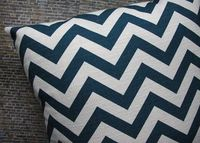 chevron, navy, pillow