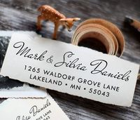Self Inking Custom Rubber Address Stamp - cute wedding or housewarming gift / a1026. $29.95, via Etsy.