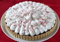 Chocolate Peppermint Whipped Cream Tart