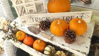 Natural Chippy Fall Halloween Vignette.