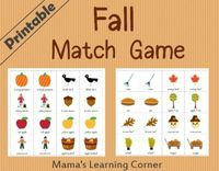 Free Printable Fall Matching Game
