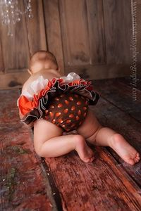 Brown Orange Ivory Ruffle Diaper Cover Ruffle by BloominBloomers, $25.00