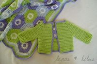 Spring Hexagon Baby Blanket (With sweater)