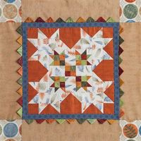 Autumn Prairie Points Table Topper