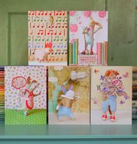 Five Large Greetings Cards. £10.00, via Etsy.