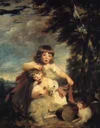 William Brummell and his younger brother George (later called 'Beau'), by Joshua Reynolds, 1782.