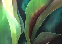 Leaves Oil Painting