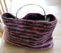Knitting with Schnapps: Finally finished - a felted bag!