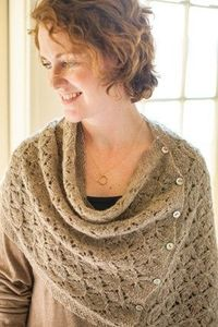 Churchmouse Yarns & Teas - Smocked Lace Wrap & Shrug Pattern