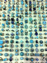 Blue stone rings