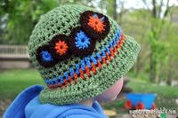 My Merry Messy Life: Crochet Caterpillar Sun Hat for Boys - Free Pattern