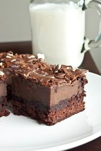 Andes Mint Chocolate Mousse Brownies!