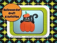 Halloween Cat Craft & Writing Activities