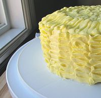 How to make a lemon ruffle cake.