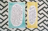 Calligraphy by Paperfinger, Photo by Jen Huang Photography