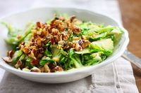 Warm Brussels Sprouts Salad with Brown Butter and Hazelnuts