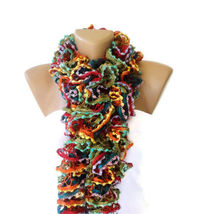Knit Ruffled Scarf,multicolor scarf,2013 NEW TREND SCARF,accessories,gifts for her,fashion,long scarf