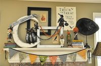 Cute halloween shelf