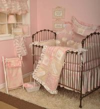 Little Girls are heaven sent... The Heaven sent by Cotton Tale is a cute baby bedding... only available at www.babymania.com