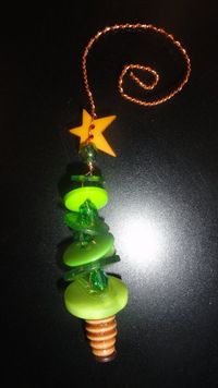 Another button tree ornament idea made by me!