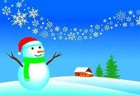 *Do a �€œDecorate the Snowman�€ race. Create snow- man pieces out of felt and assign each a number from 1 to 6. Divide the students into teams and give each team a set of pieces and a dice. Each time would roll the dice and decorate the s...