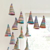 rolled paper cones