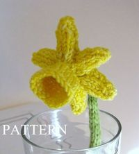Daffodil Flower Knitting Pattern PDF by mamma4earth on Etsy, �'�3.00