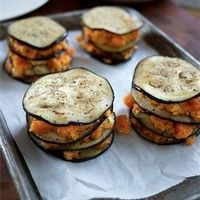 Eggplant stacks with sweet potatoes and feta from Purple Citrus and Sweet Perfume #foodgawker