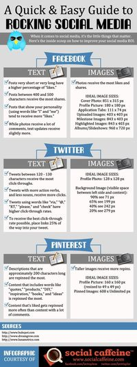 A quick and easy guide to rocking #socialmedia #infographic
