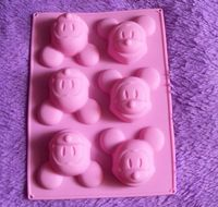 Silicone Cake Mold Muffin Cups Cake Pan Soap Ice Chocolate Mold 6-Mickey Mouse