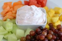 The Easiest Fruit Dip EVER! (2 yogurts and 1 container of cool whip)