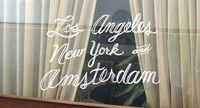 Los Angeles, New York and Amsterdam