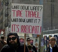 Favorite protest sign EVER! #timetravel #SDCC