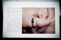 Calligraphy + Letterpress Birth Announcements for Baby Lincoln by Ephemera Press