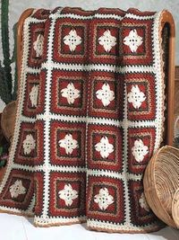 """Free pattern for """"Navajo Granny Square Afghan""""!"""