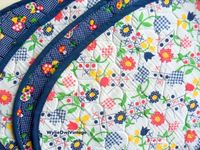 Vintage Handmade Quilted Reversible Placemats by WylieOwlVintage, $12.00