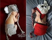 Alabama Elephant and Georgia Bulldog Crochet. RTR!