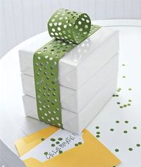 Gift wrap with hole punch ribbon