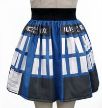 Geek Up Your Wardrobe With Skirts by Ashley Mertz (Hey, That Rhymes!) | TARDIS skirt