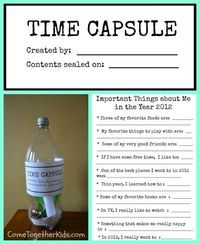 New Year's Eve Time Capsule (with printables)