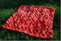 XOXO Hugs and Kisses cable baby blanket pattern for hand or machine knitting