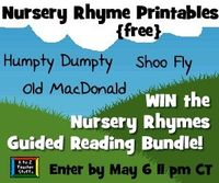 Download {FREE} Printable Nursery Rhyme Activities and Enter to win the Nursery Rhymes to Go giveaway by May 6