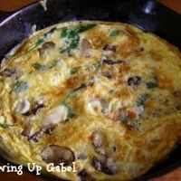 Mushroom and Spinach Frittata by growingupgabel