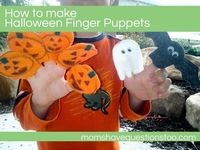 How to make Halloween Finger Puppets